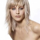 Medium haircuts with fringe