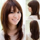 Medium layers haircut