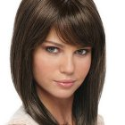 Medium length haircuts with side bangs