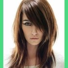 Medium length straight hairstyles