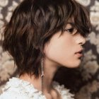 Medium short layered haircuts