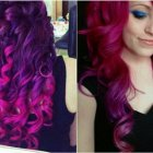 Purple and black hairstyles