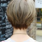 Short haircuts from the back view