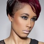 Short haircuts with color