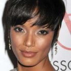Short hairstyles for black women with oval faces