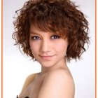 Short hairstyles for naturally curly hair