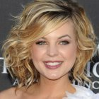 Short medium curly hairstyles