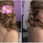 Side curly hairstyles