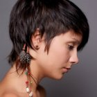 Straight short hairstyles for women