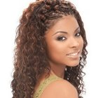 Wet curly hairstyles
