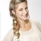 Bohemian braid hairstyles