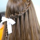 Braid and curly hairstyles