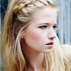 Braided fringe hairstyles