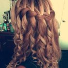 Braids and curls hairstyles