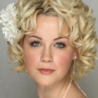 Curly hairstyle short