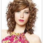 Curly layered haircut
