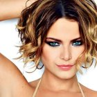 Hairstyles for short and curly hair