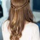 Half up half down braided hairstyles