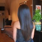 Long layered v shaped haircut