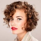 Natural short curly hair