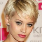 Pixie haircut long hair