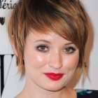 Short hair styles for round face