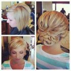 Short hair updos for weddings