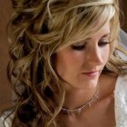 Wedding hair curly