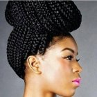 African braided updos