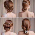 Elegant updos for wedding