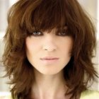 Haircuts for medium length hair with bangs