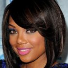 Hairstyles for black women with round faces
