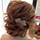 Medium length wedding hair