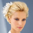Short hair bridal hairstyles