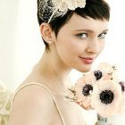 Wedding hair accessories for short hair