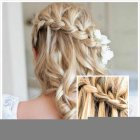 Wedding hair designs for long hair
