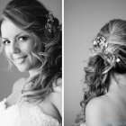 Wedding hair side