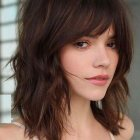Medium length hairstyles with bangs 2019