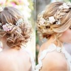 Brides wedding hair
