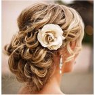 Wedding hair bun styles