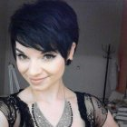 Dark pixie hairstyles