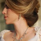 Hair style of bridal