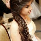 Hairstyles for long hair wedding party