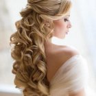 Long hair styles wedding