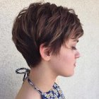 Pixie cut hair