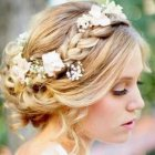 Style hair for wedding