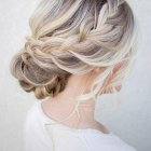 Updo hair wedding