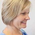 Women short hair cut