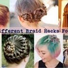 Different braid styles for short hair
