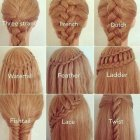 Different hairstyles of braids